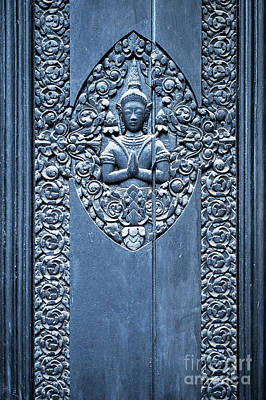 Photograph - National Museum Buddha Door by Rick Piper Photography