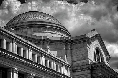 Dramatic Photograph - National Museum Of Natural History In Black And White by Greg Mimbs
