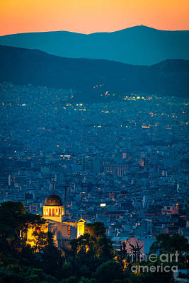 Photograph - National Observatory Of Athens by Inge Johnsson