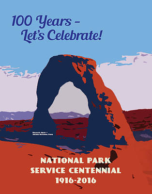 Digital Art - 100 Years, National Park Service Centennial by Chuck Mountain