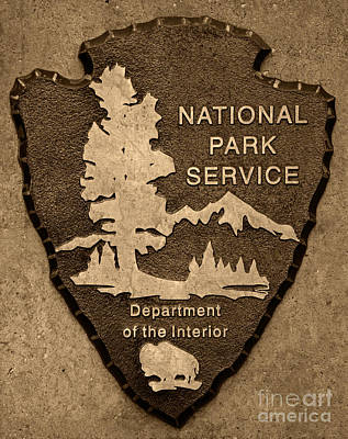 Photograph - National Park Service Logo by John Stephens