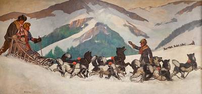 Husky Dog Painting - National Park Service - North Country by Gifford Beal