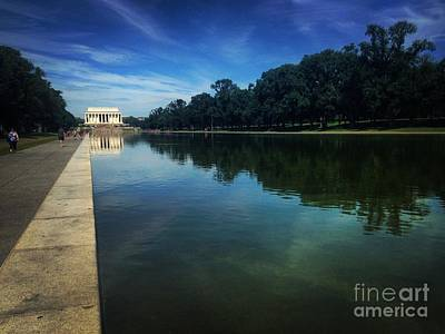 Photograph - National Reflection Pool by Angela Rath