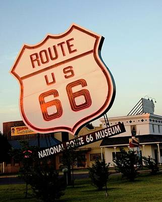 Photograph - National Route 66 Museum Oklahoma by Bob Pardue