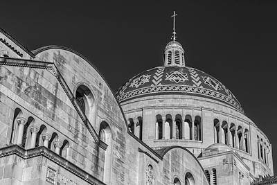 Photograph - National Shrine Dome I Bw by Susan Candelario