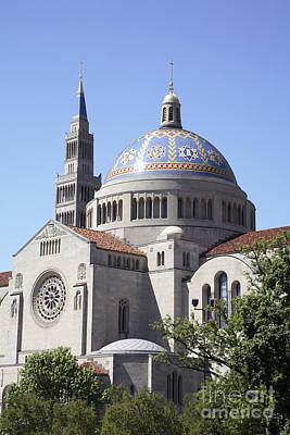 National Shrine Of The Immaculate Conception Art Print by William Kuta