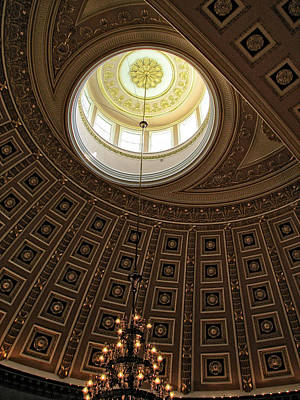 Photograph - National Statuary Hall Ceiling by Chrystal Mimbs