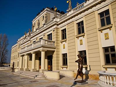 National Theater In Skopje Art Print by Rae Tucker