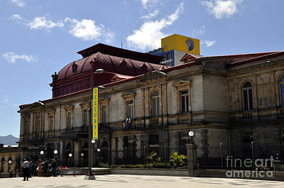 Photograph - National Theater Of Costa Rica 2 by Andrew Dinh