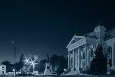 Photograph - National Theatre In Iasi By Night by Vlad Baciu