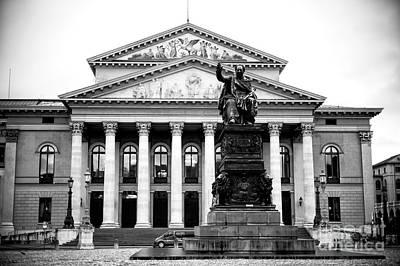 Photograph - National Theatre Munich by John Rizzuto