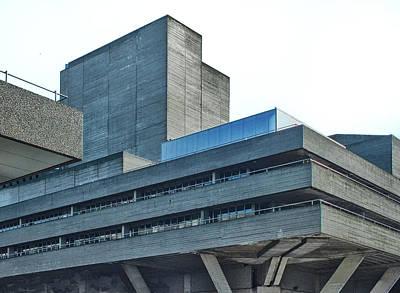 National Theatre London - Concrete Landscape Art Print by Philip Openshaw