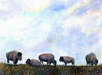 Painting - National Treasure - Bison by Marsha Karle