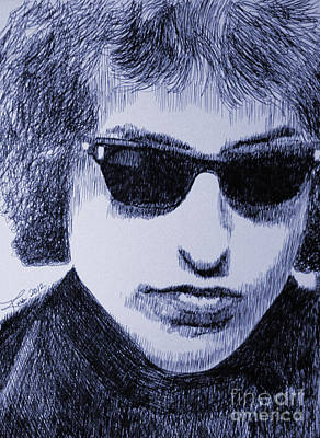 Bob Dylan Drawing - National Treasure by Robbi  Musser
