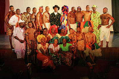 Photograph - National Troupe Of Nigeria by Muyiwa OSIFUYE