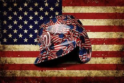 Mixed Media - Nationals Batting Helmet by Dan Haraga