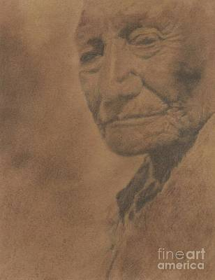Grand Canyon Drawing - Native American by Timea Mazug