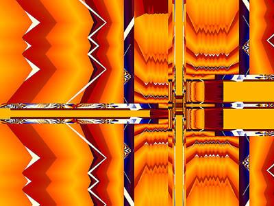 Digital Art - Native Abstract by Fran Riley
