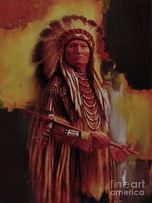 First Tribes Painting - Native America 01a by Gull G