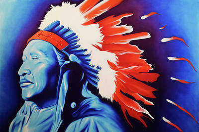 Robert Martinez Painting - Native America The Beautiful by Robert Martinez