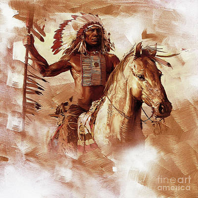 Elaborate Painting - Native American 093201 by Gull G