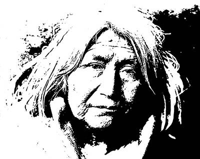 Digital Art - Native American 10 Curtis by David Bridburg