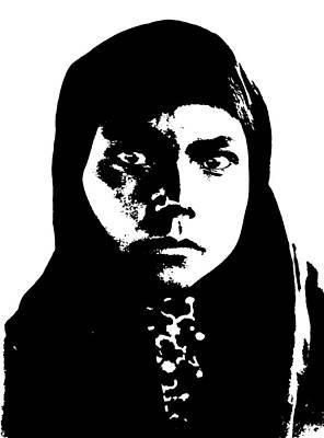 Native American Woman Digital Art - Native American 11 Curtis by David Bridburg