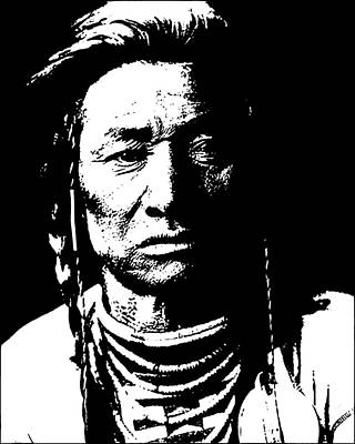 Digital Art - Native American 15 Curtis by David Bridburg
