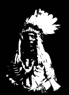 Shirt Digital Art - Native American 20 Curtis by David Bridburg