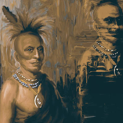 New Orleans Oil Painting - Native American 273 4 by Mawra Tahreem