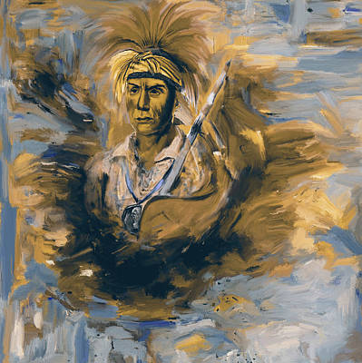 Painting - Native American 276 3 by Mawra Tahreem