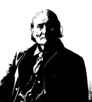 Old Man Digital Art - Native American 5 Curtis by David Bridburg