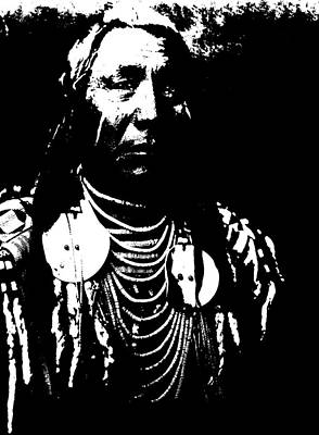 Digital Art - Native American 7 Curtis by David Bridburg