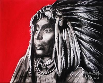 Native American Art Print by Anastasis  Anastasi