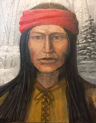 Painting - Native American Apache by Larry E Lamb