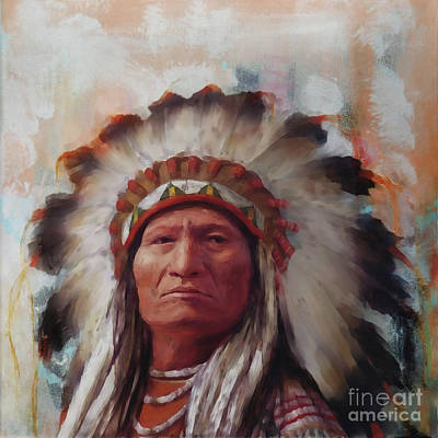 Painting - Native American Art H45n4 by Gull G