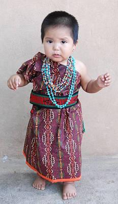 Photograph - Native American Baby Girl by Irina ArchAngelSkaya