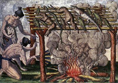 Native American Barbecue Art Print