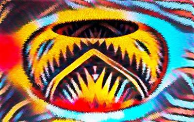 Mixed Media - Native American Basket 1 by Ayasha Loya