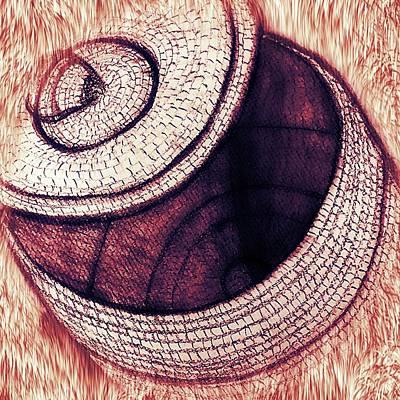 Mixed Media - Native American Basket 2 by Ayasha Loya