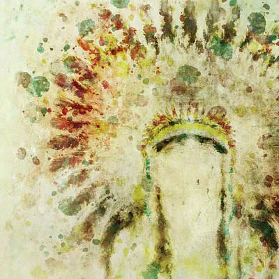 Painting - Native American Boho Headdress by Christina VanGinkel