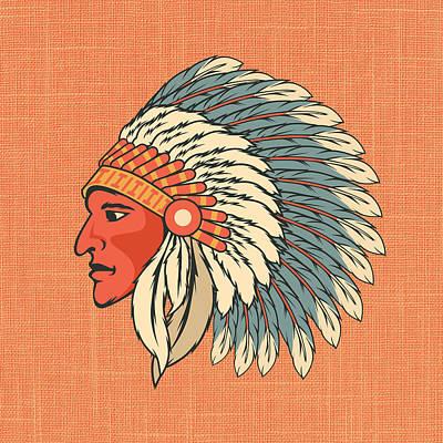 Native American Print by Brandi Fitzgerald