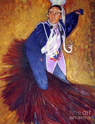 Painting - Native American Dancer by Ekaterina Stoyanova