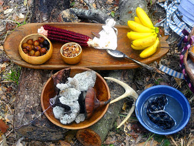Photograph - Native American Dinner by David Lee Thompson