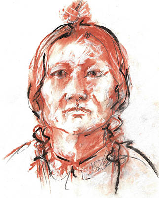 Drawing - Native American - Drawing by Jacki Kellum