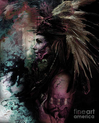 Indian Tribal Art Painting - Native American Fathers by Gull G