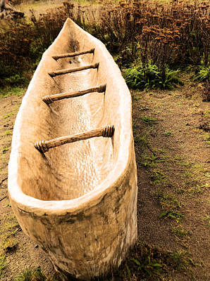 Hand Made Photograph - Native American Fishing Boat. by Jeff Swan