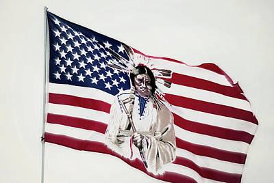Photograph - Native American Flag by Emanuel Tanjala