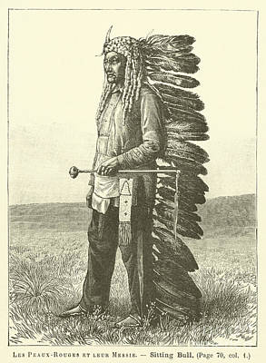Sioux Drawing - Native American by French School