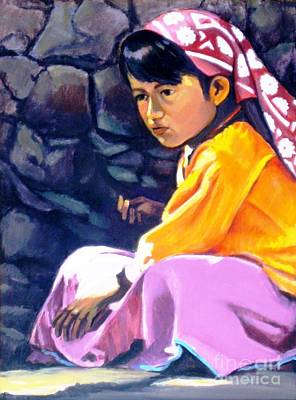 Painting - Native American Girl by Ekaterina Stoyanova